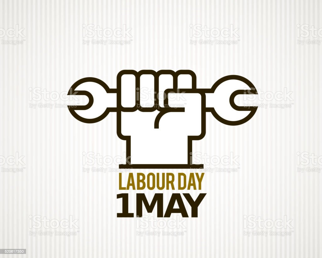 Labour day vector art illustration