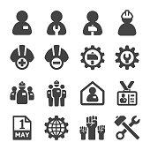 labour,crew icon set