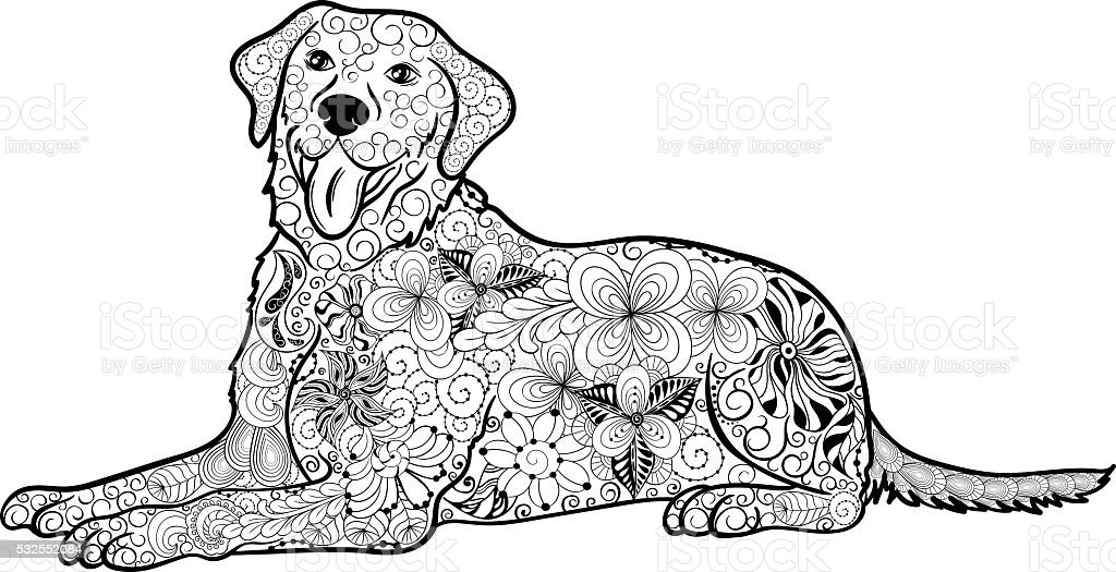 labrador doodle stock vector more images of