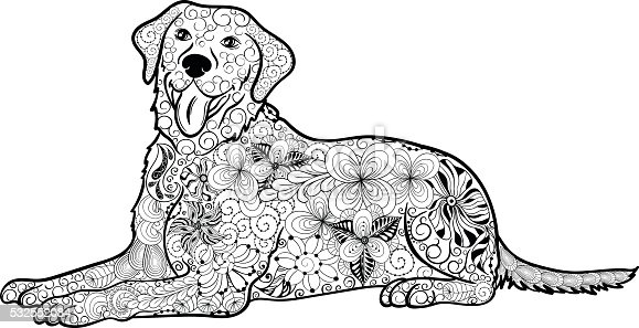 Labrador Dog Doodle Stock Vector Art Amp More Images Of