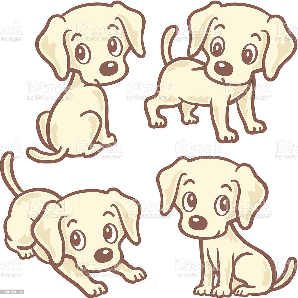 Labrador Retrievers Four Poses Stock Vector Art & More Images of ...