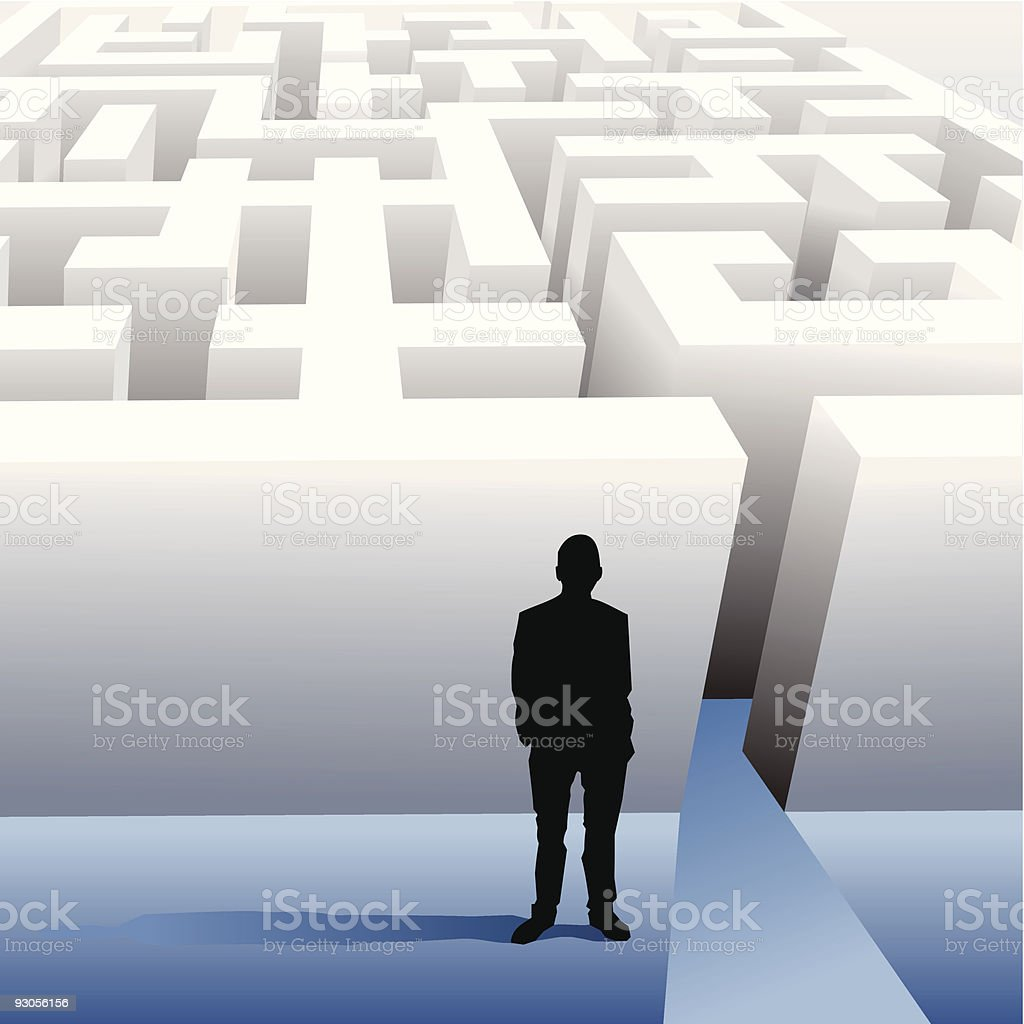 Labyrinth - business concept vector art illustration