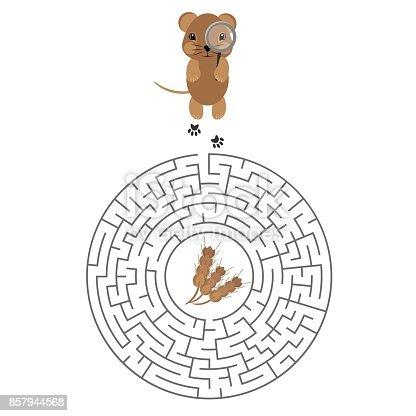 Ilustración de Laberinto Juego Para Niños Con Hámster Y Grano y más ...