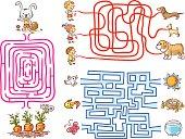 Labyrinth games set for preschoolers