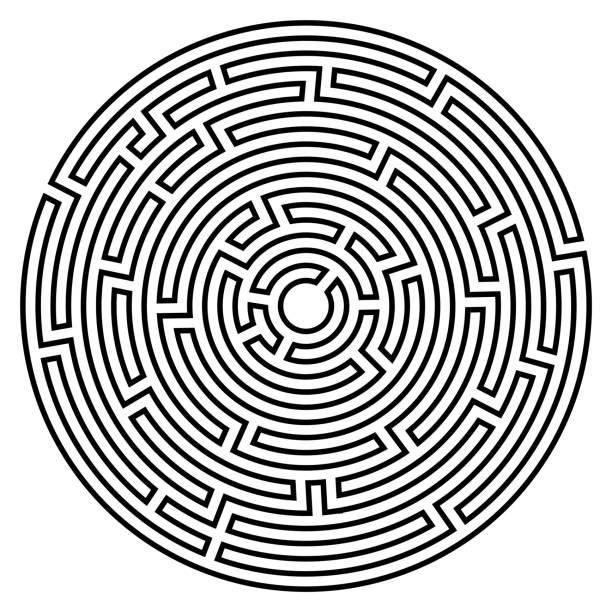 labyrinth-symbol. labyrinth-symbol. - labyrinthgarten stock-grafiken, -clipart, -cartoons und -symbole