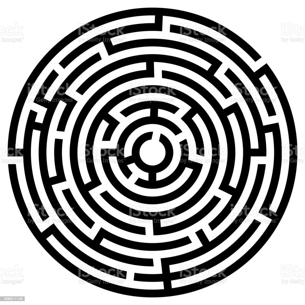 Labyrinth Icon Maze Symbol Stock Vector Art & More Images of ...