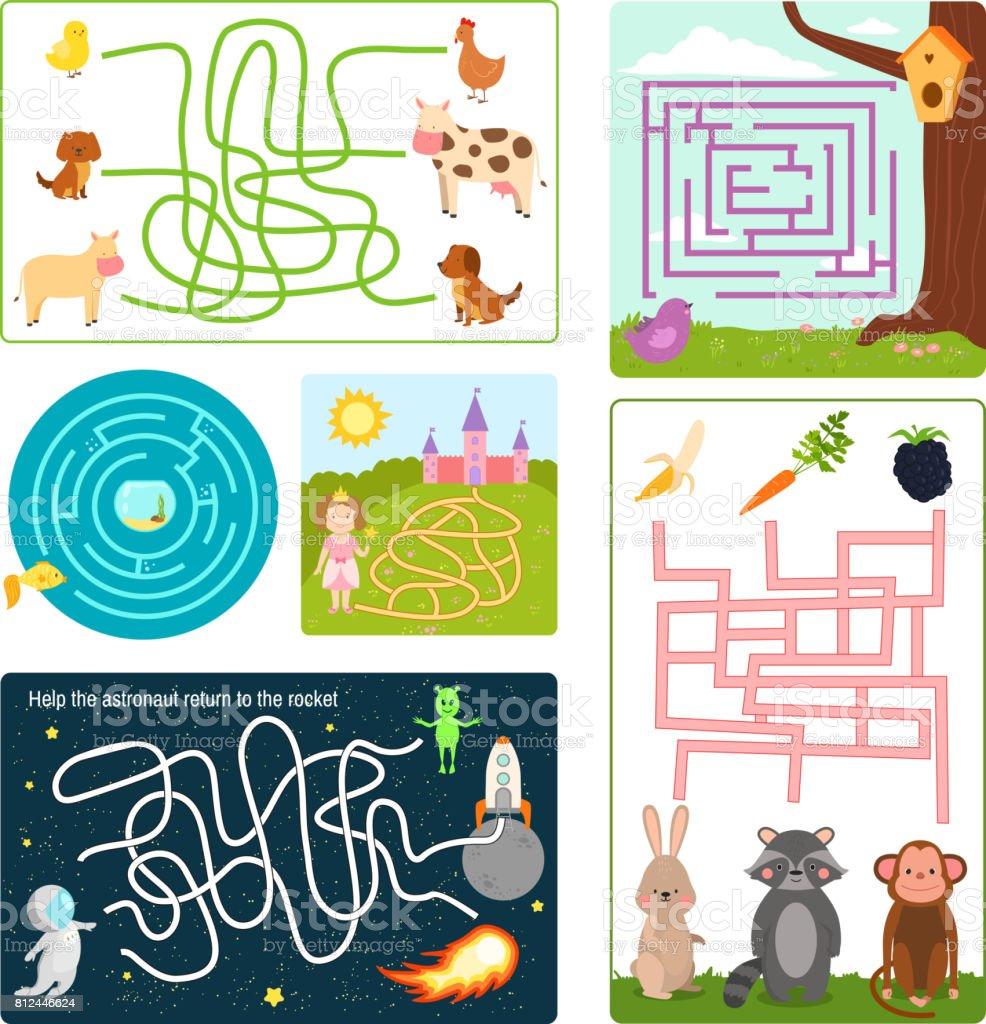 Labyrinth Labyrinth Rätsel Form Rebus Logik Spiel Suche Rätsel