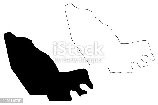 istock Lac Region (Regions of Chad, Republic of Chad) map vector illustration, scribble sketch Lac map 1159419782