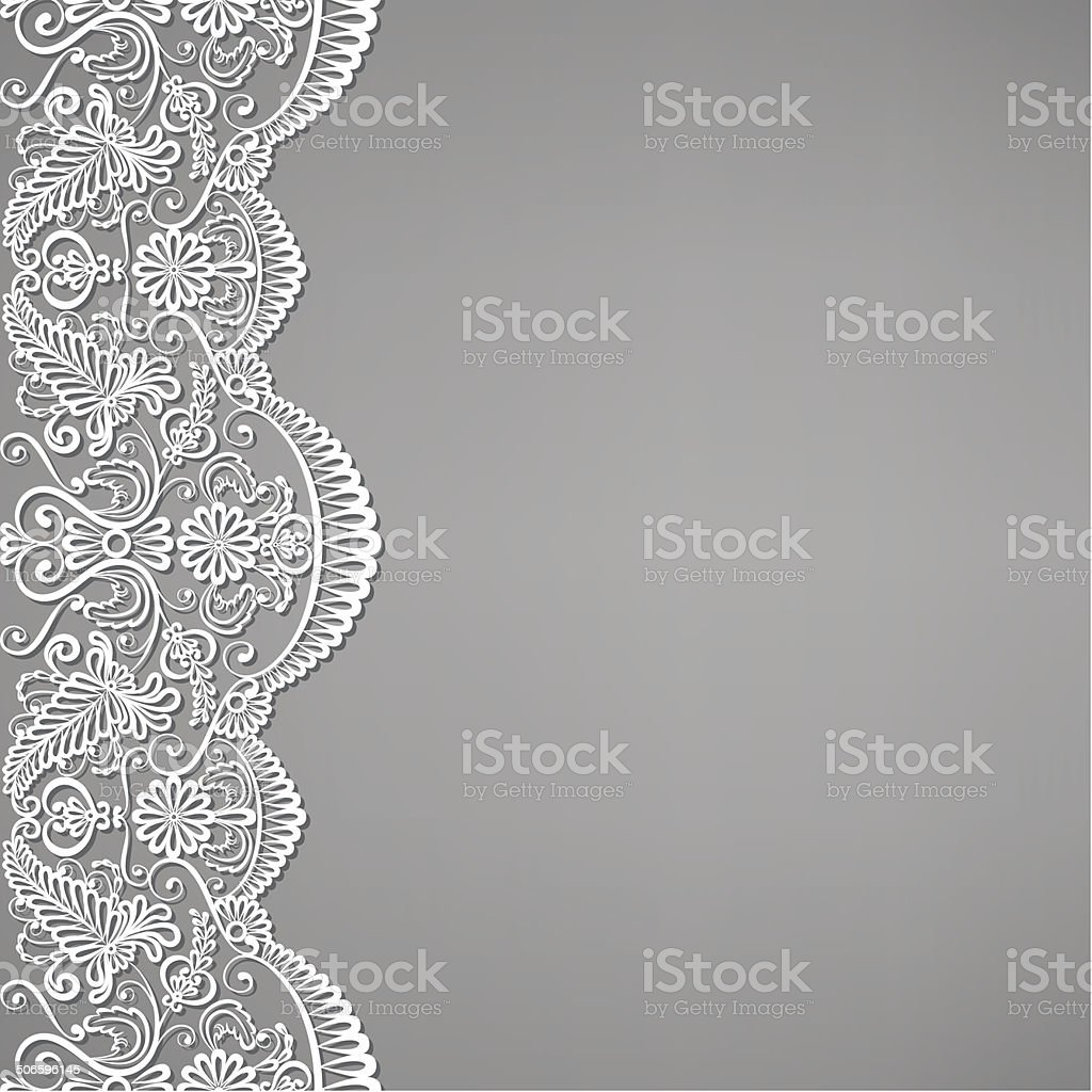 lace and floral ornaments vector art illustration