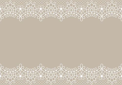 Lace background. Luxury floral lace borders ornate design element with place for text. Wedding, birthday or certificate vector texture