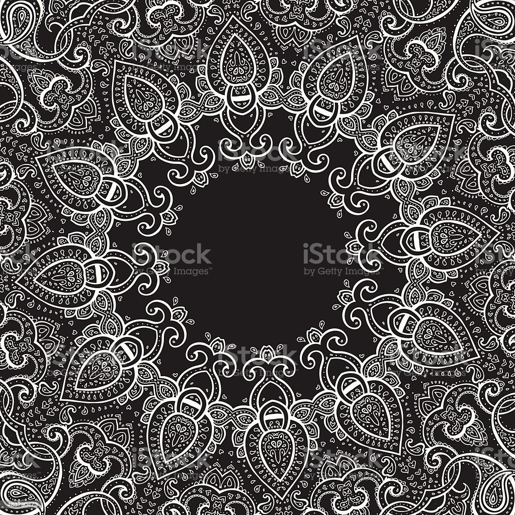 Lace background. Mandala. royalty-free stock vector art