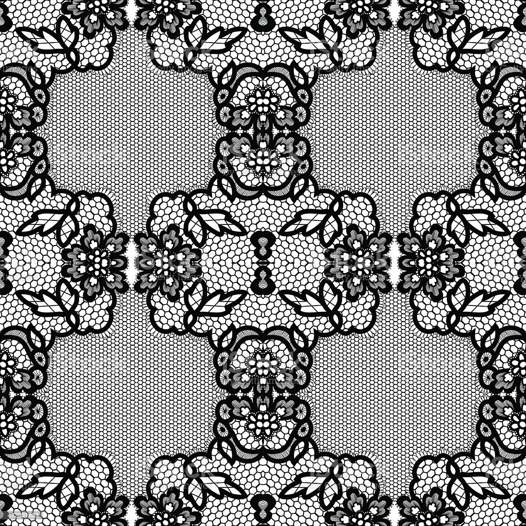 Lace background, ornamental flowers. Vector realistic texture. royalty-free lace background ornamental flowers vector realistic texture stock vector art & more images of art