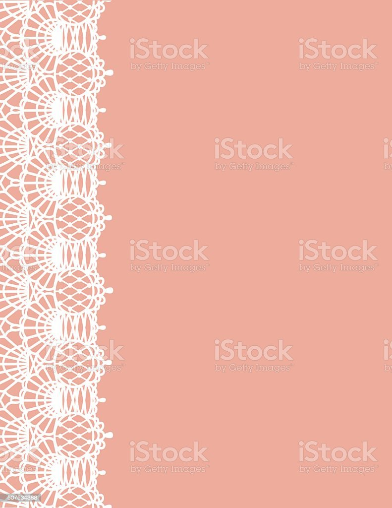 Lace Background vector art illustration