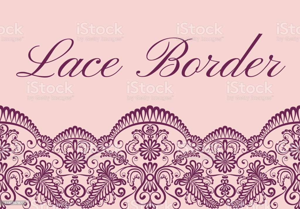 lace border card векторная иллюстрация