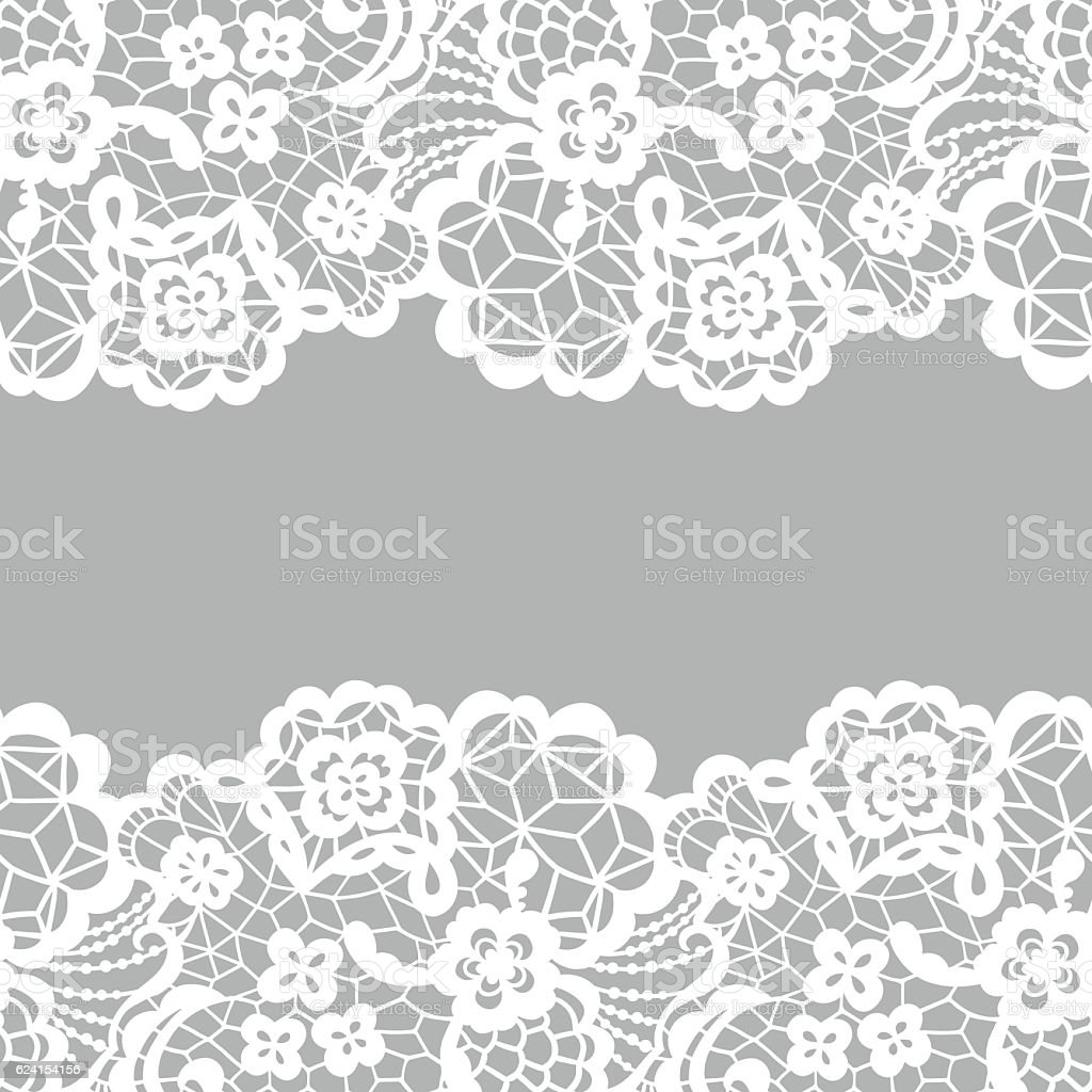 lace border invitation card stock vector art more images of