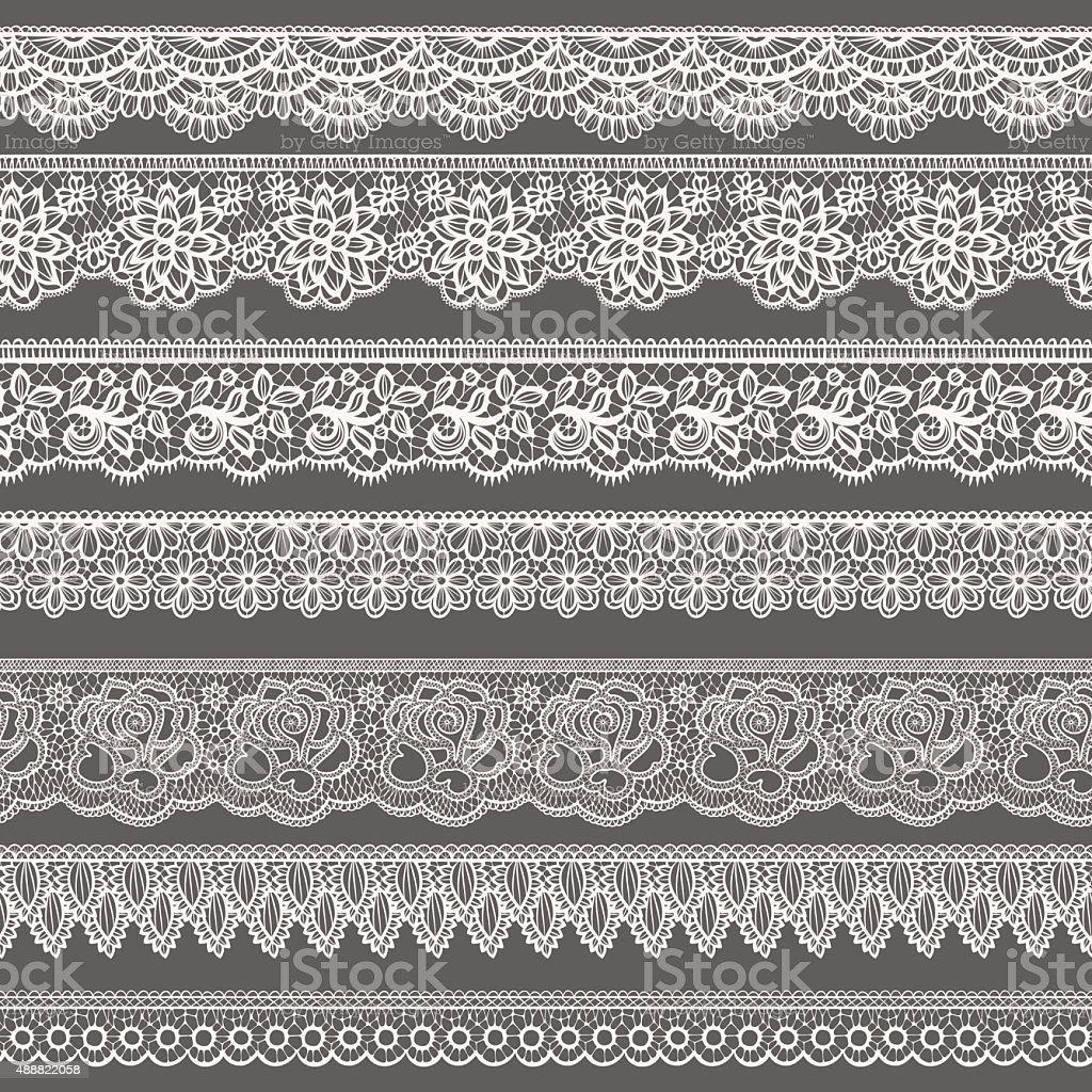 Lace borders vector art illustration