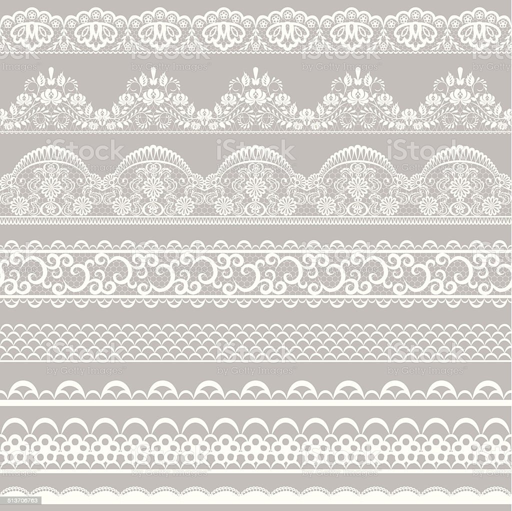 lace borders vector art illustration