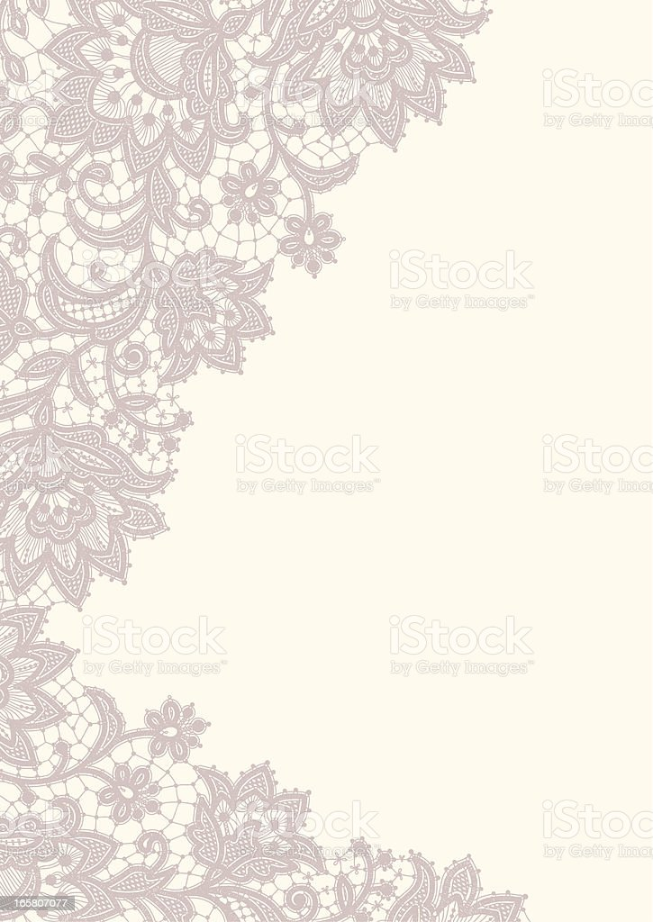 Lace Card. vector art illustration