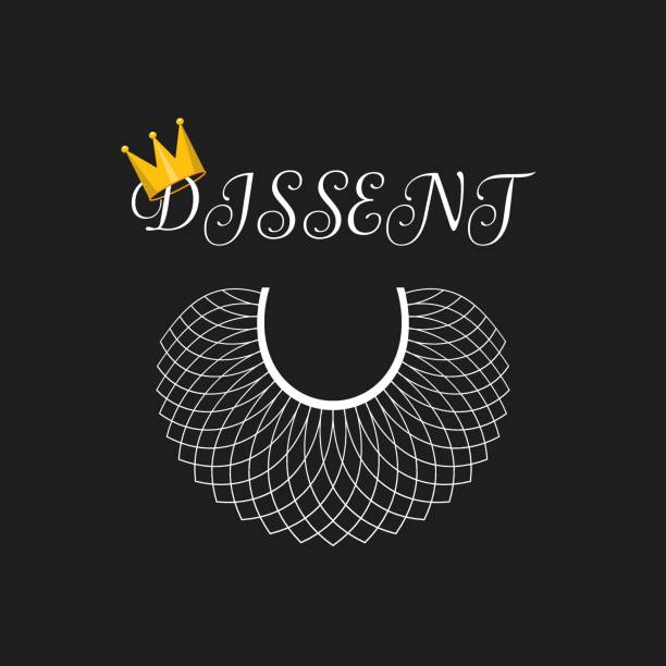 Lace, crown - dissent concept background, banner, poster, sticker, t-shirt design Lace, crown - dissent concept background, banner, poster, sticker, t-shirt design chief justice stock illustrations