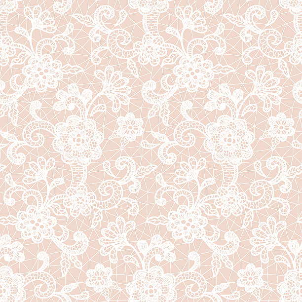 lace design with floral motifs - koronka stock illustrations