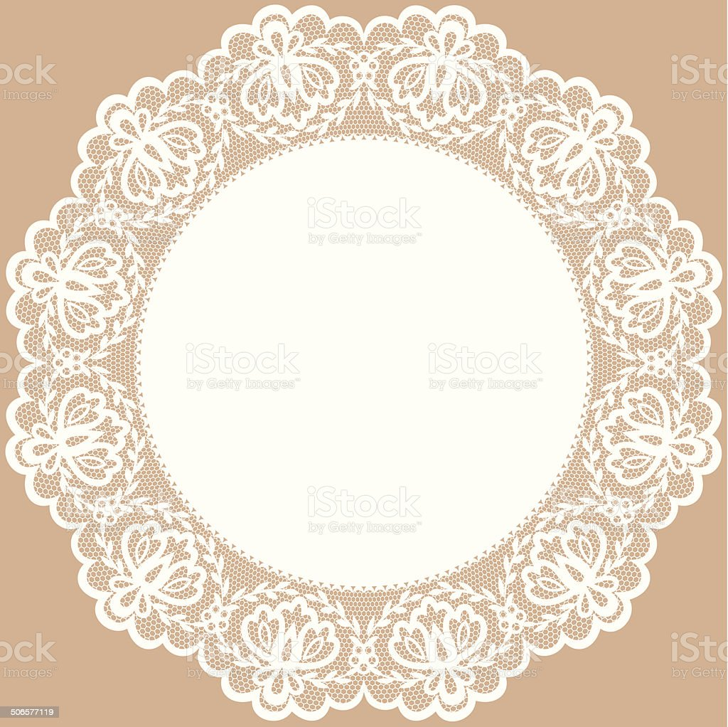 lace doily vector art illustration