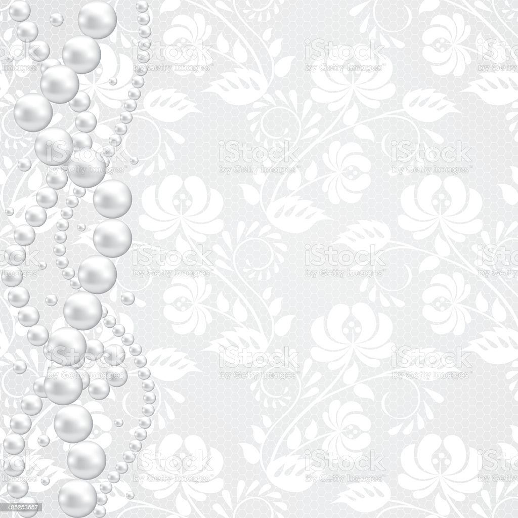 lace fabric background vector art illustration
