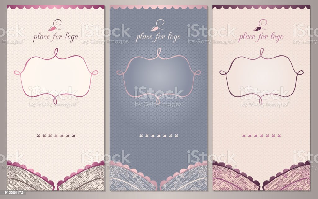 info for 4a3bc e993b Lace Floral Bh Hintergrund Satz Von Luxus Vertikale Banner ...