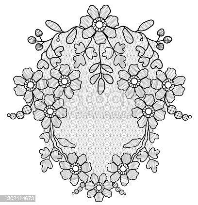 istock lace flower pattern 1302414673