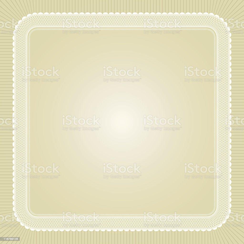 Lace Frame on Alabaster vector art illustration