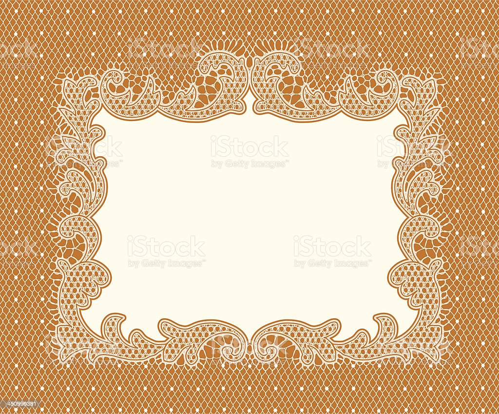 Lace Frame royalty-free stock vector art