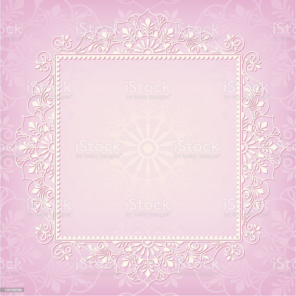 Lace Frame White on Pink royalty-free lace frame white on pink stock vector art & more images of antique