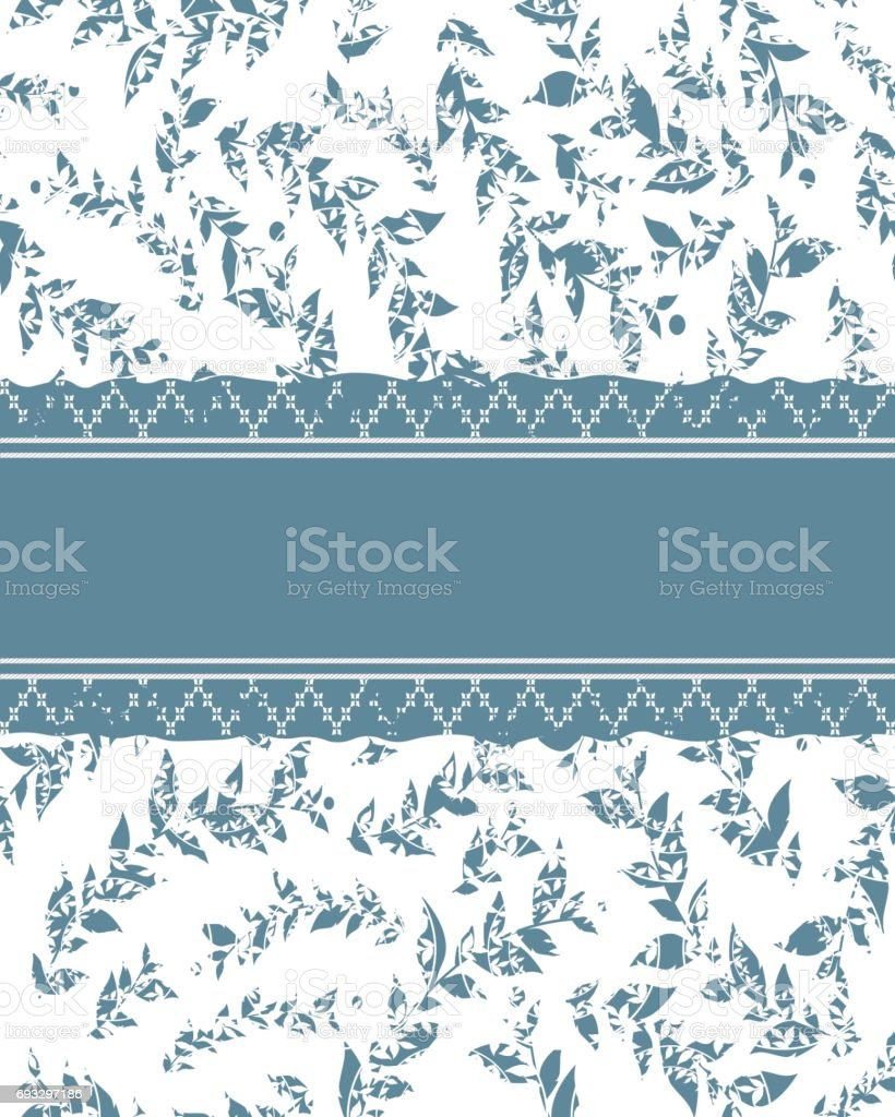 lace frame with floral background vector art illustration
