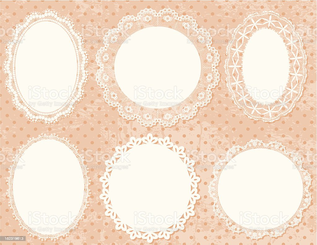 Lace Frames Set. vector art illustration