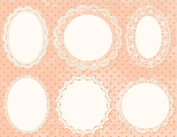 Lace Frames Set. vector art illustration