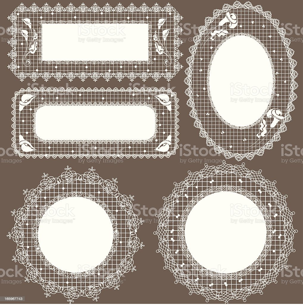 Lace frames royalty-free stock vector art