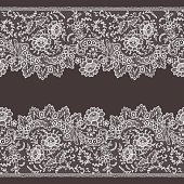 Lace Horizontal Seamless Pattern.