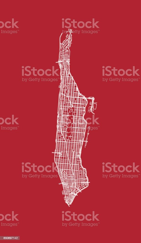 Lace of Manhattan streets. vector art illustration