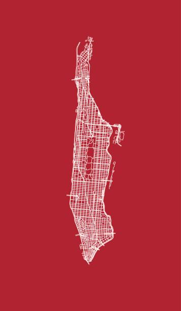 lace of manhattan streets. - new york map stock illustrations, clip art, cartoons, & icons