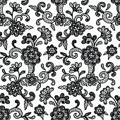 Lace Pattern Black & White