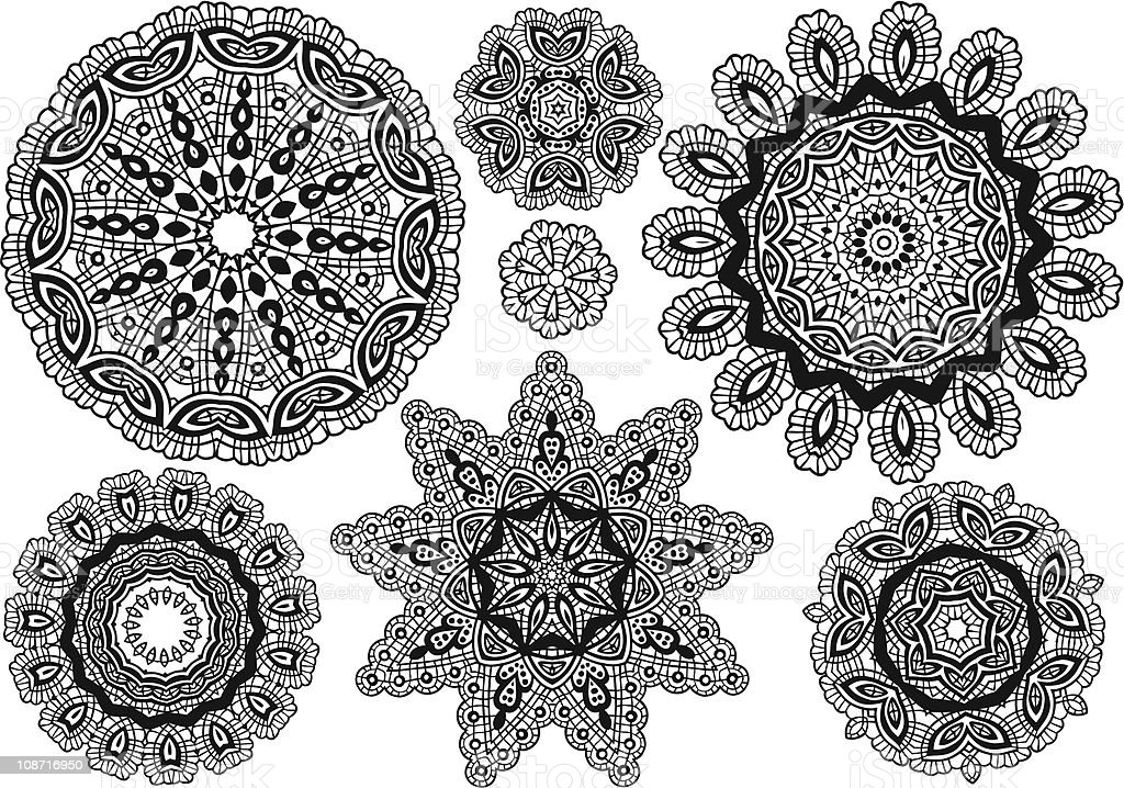 lace pattern royalty-free stock vector art