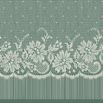 Lace Ribbon. Horizontal Seamless Pattern.