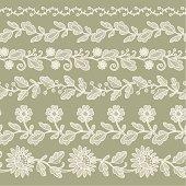 Lace Ribbon Seamless Pattern.