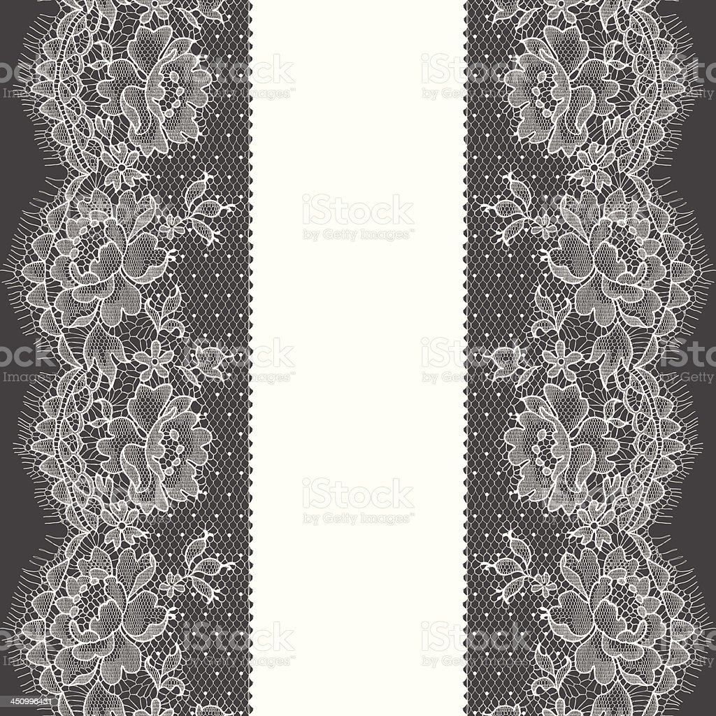 Lace Ribbon. Vertical Seamless Pattern. royalty-free stock vector art