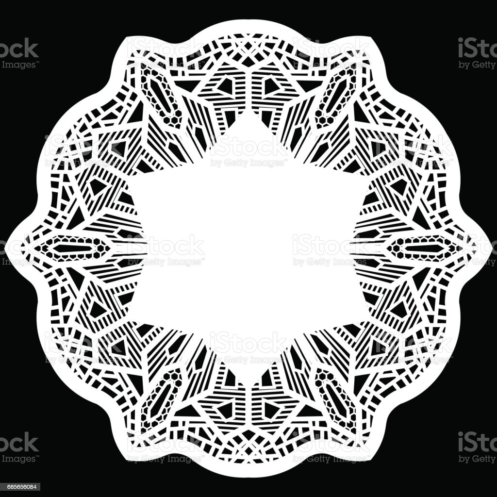 Lace round paper doily, greeting element package, doily - a template for cutting, lace pattern, decorative flower, vector illustrations royalty-free lace round paper doily greeting element package doily a template for cutting lace pattern decorative flower vector illustrations 가위에 대한 스톡 벡터 아트 및 기타 이미지