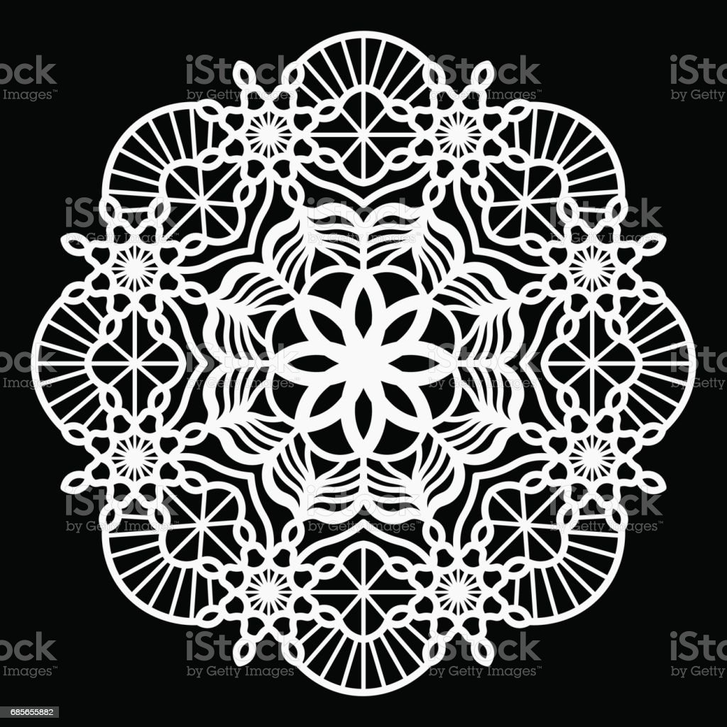 Lace round paper doily, lacy snowflake, greeting element package, vector illustrations 免版稅 lace round paper doily lacy snowflake greeting element package vector illustrations 向量插圖及更多 俄羅斯 圖片
