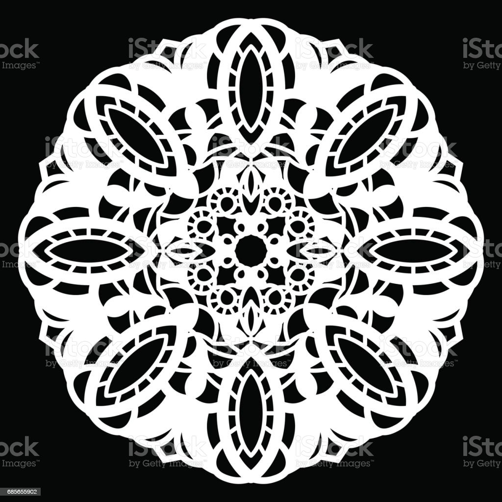 Lace round paper doily, lacy snowflake, greeting element package, vector illustrations royalty-free lace round paper doily lacy snowflake greeting element package vector illustrations 고풍스런에 대한 스톡 벡터 아트 및 기타 이미지