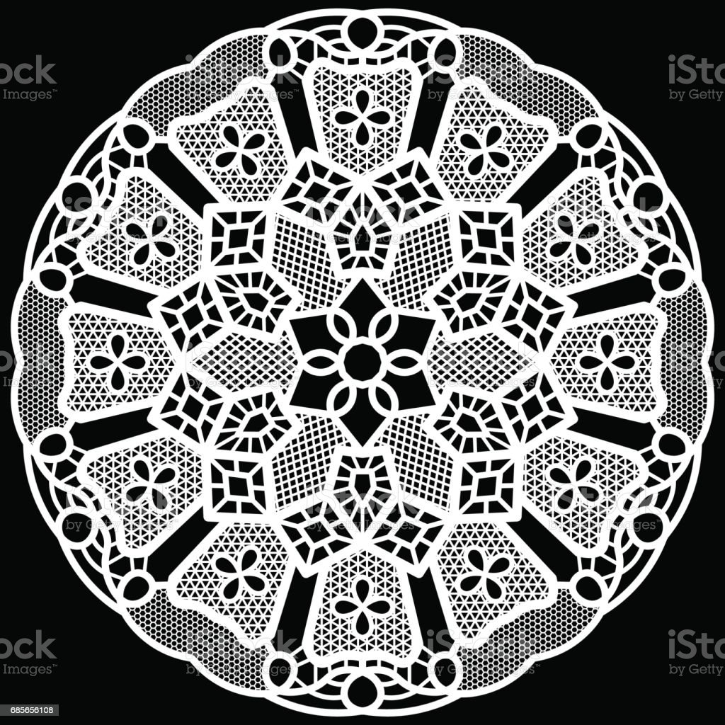 Lace round paper doily, lacy snowflake, greeting element package, vector illustrations royalty-free lace round paper doily lacy snowflake greeting element package vector illustrations 공휴일에 대한 스톡 벡터 아트 및 기타 이미지