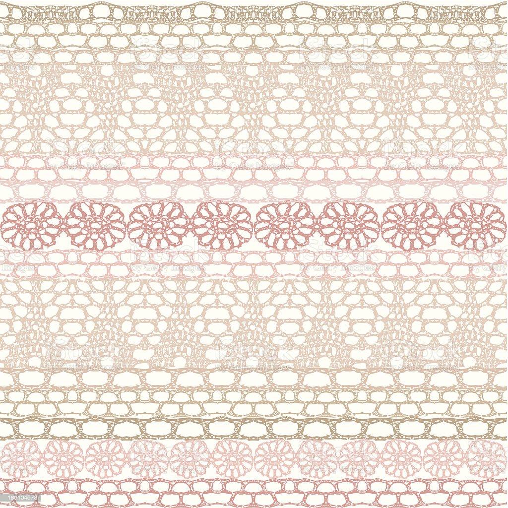 Patrón Sin Costuras De Encaje De Crochet - Arte vectorial de stock y ...