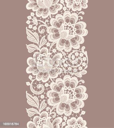 istock Lace Seamless Pattern. Ribbon. 165918784