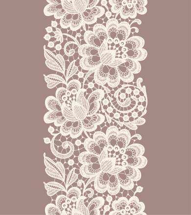 Lace Seamless Pattern. Ribbon.